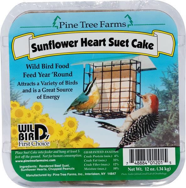 Pine Tree Farms Sunflower Heart Suet Cake