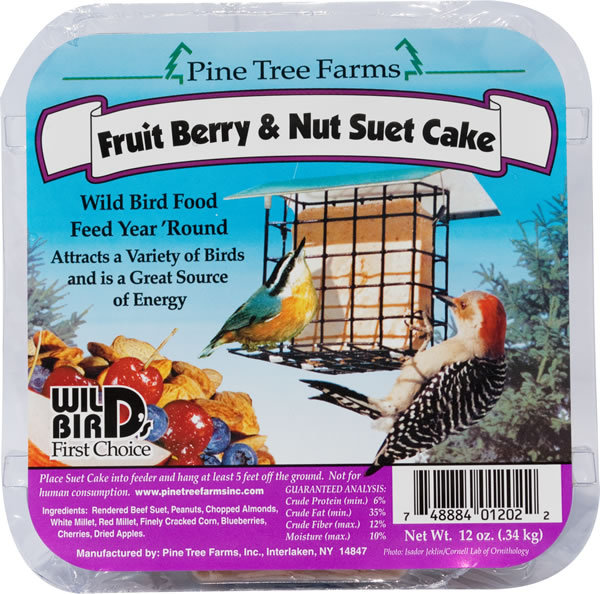 Pine Tree Farms Fruit Berry & Nut Suet Cake