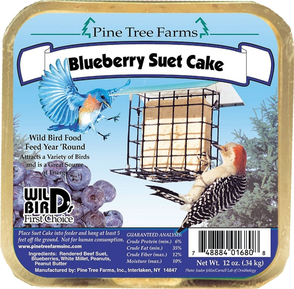 Pine Tree Farms Blueberry Suet Cake