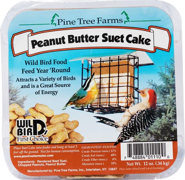 Pine Tree Farms Peanut Butter Suet Cake